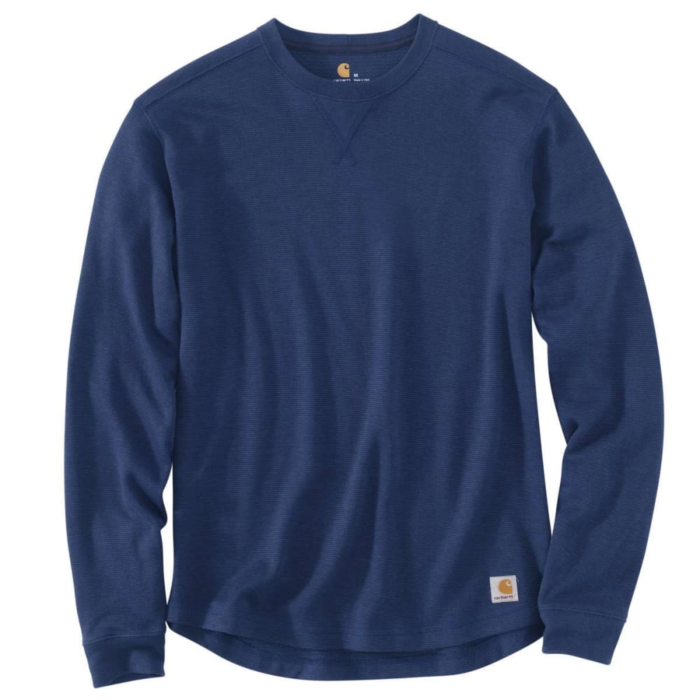 CARHARTT Men's Tilden Crewneck Long-Sleeve Shirt - 988 DARK COBALT BLUE