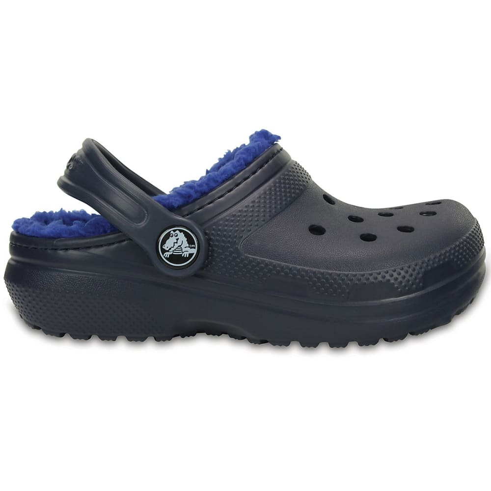 CROCS Kids' Classic Lined Clogs, Navy/Blue - NAVY/BLU-4EU