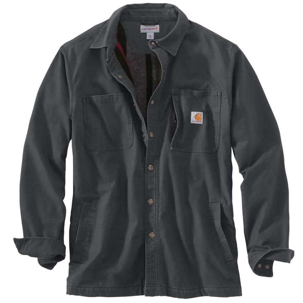 CARHARTT Men's Rugged Flex Rigby Fleece-Lined Shirt Jacket - 029 SHADOW