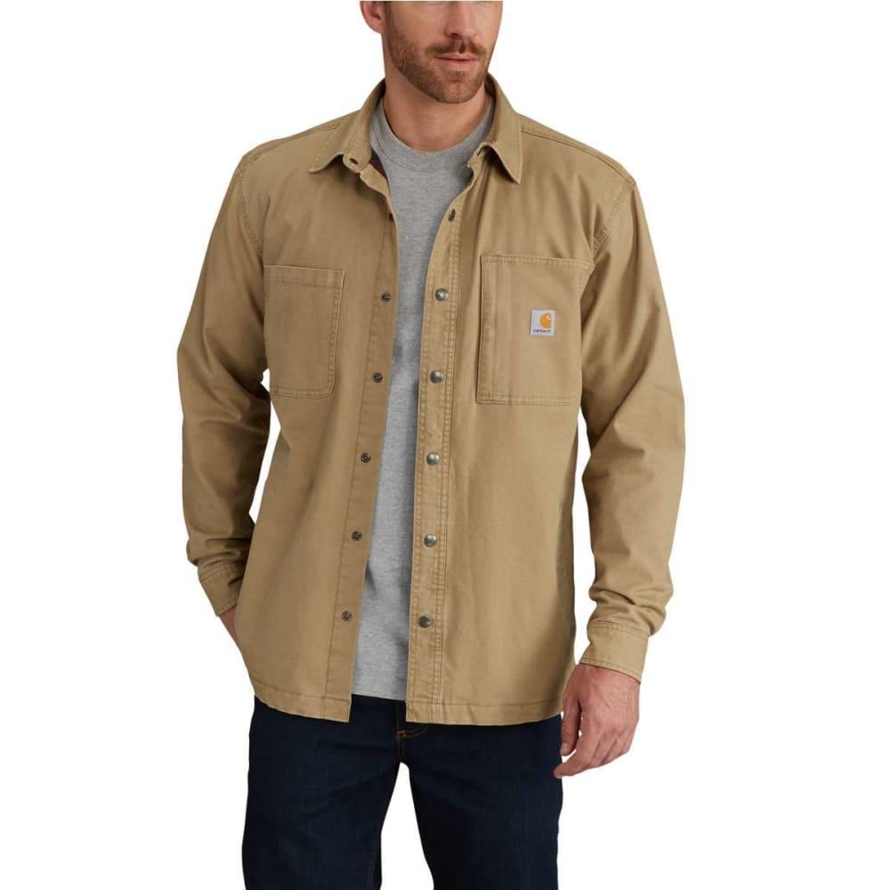 CARHARTT Men's Rugged Flex Rigby Fleece-Lined Shirt Jacket M