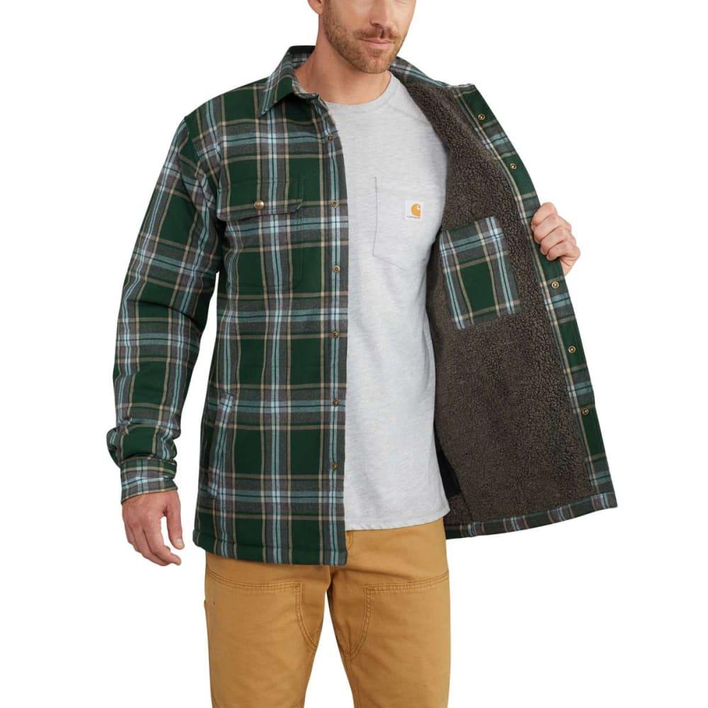 Carhartt Men S Hubbard Sherpa Lined Flannel Shirt Jacket