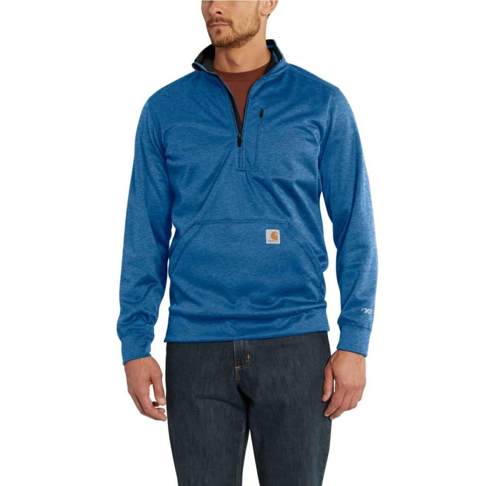 CARHARTT Men's Force Extremes Mock Neck Half-Zip Sweatshirt - 478 HURON HEATHER