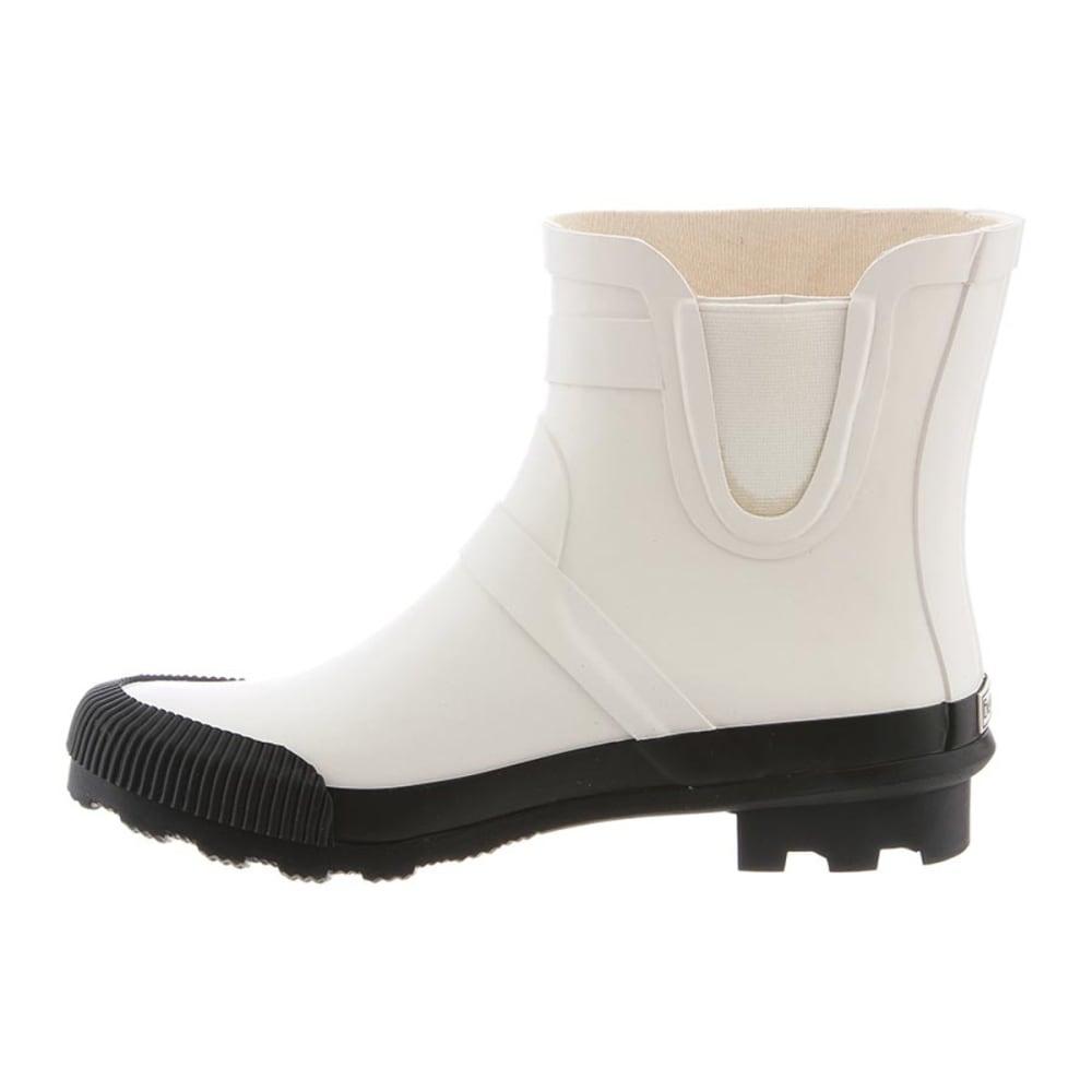BEARPAW Women's June Waterproof Rain Boots - WHITE/BLACK