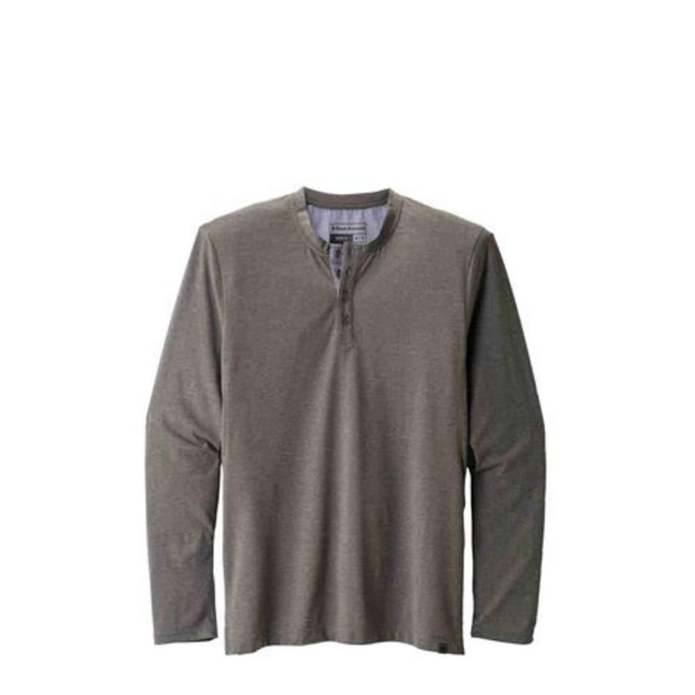 BLACK DIAMOND Men's Long Sleeve Attitude Henley Shirt - SLATE