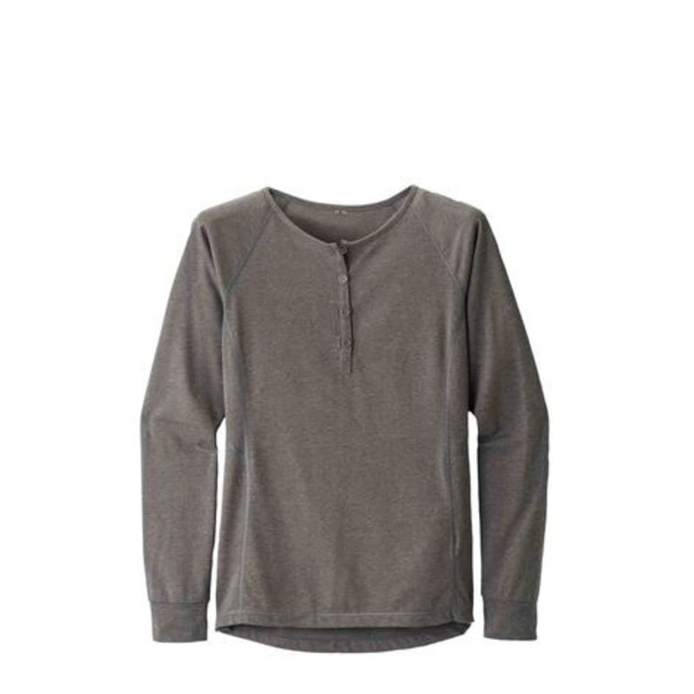 BLACK DIAMOND Women's Long Sleeve Attitude Henley Shirt - SLATE