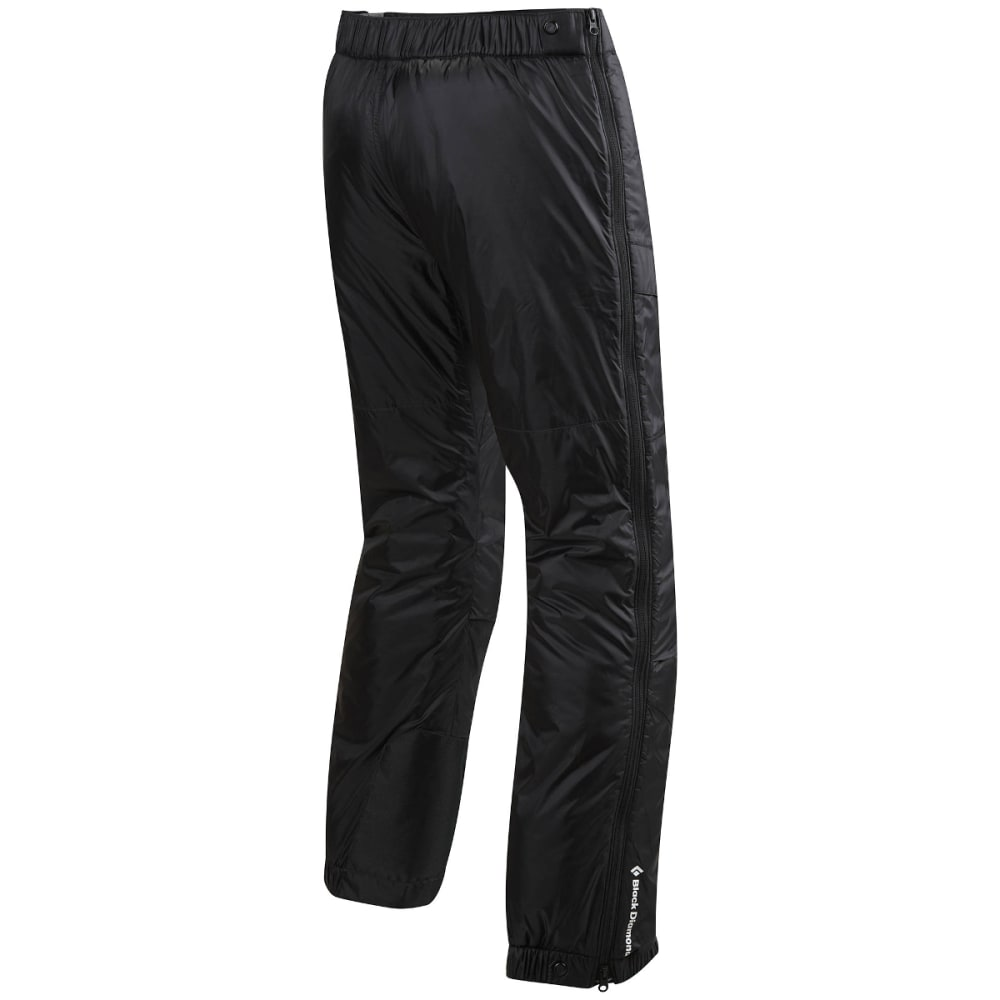 BLACK DIAMOND Men's Stance Belay Insulated Pants, Black - BLACK