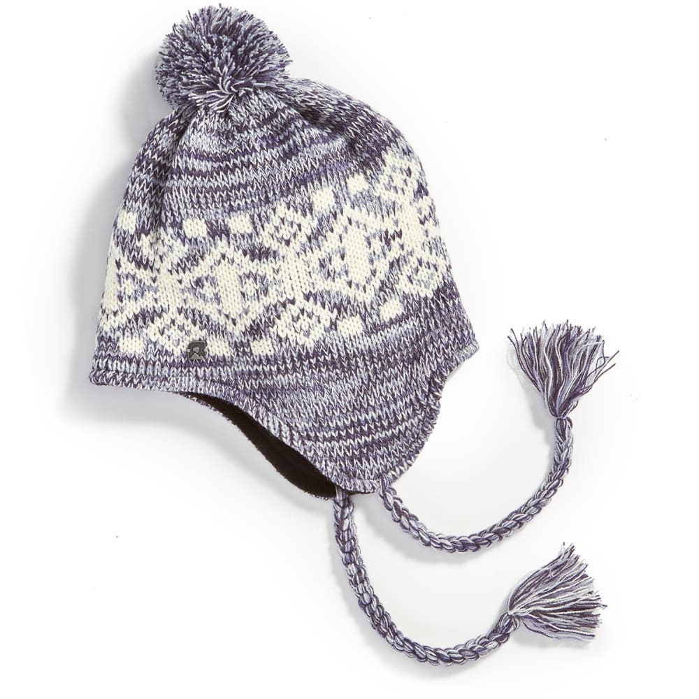 EMS Women's Fair Isle Peruvian Knit Cap - PEARL BLUE