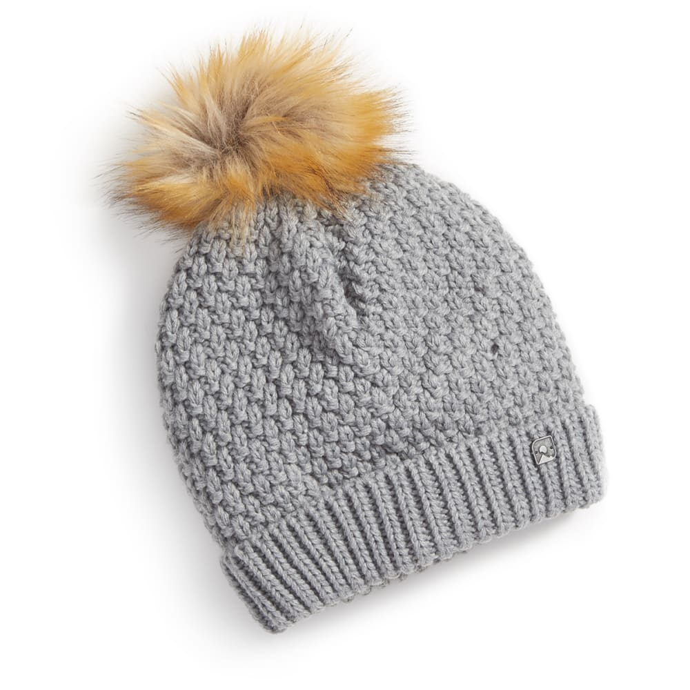 EMS® Women's Slouchy Pom Beanie - NEUTRAL GRAY HTR