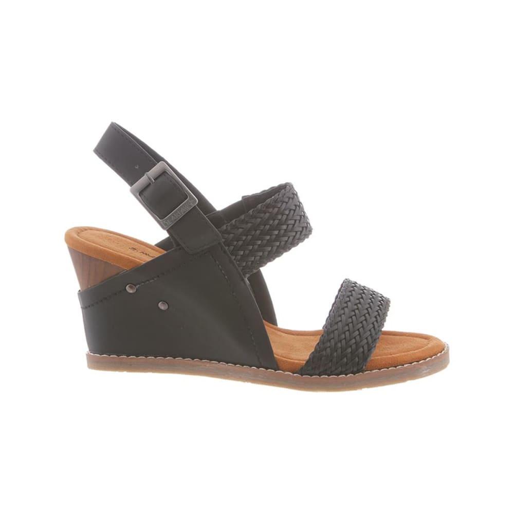 BEARPAW Women's Racquel Wedge Sandals - BLACK II