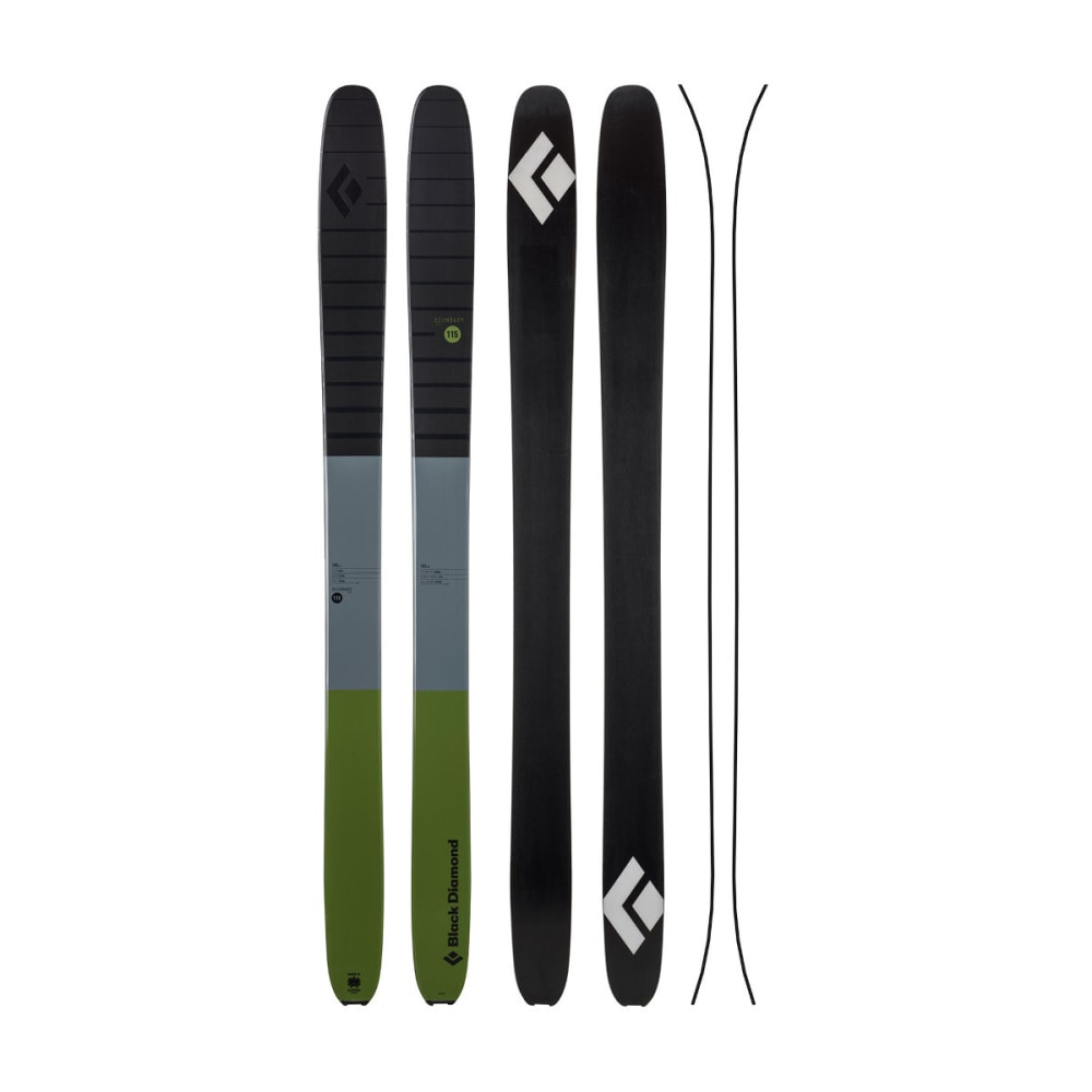 Black Diamond Boundary Pro 115 Ski, Cargo - Green 115087