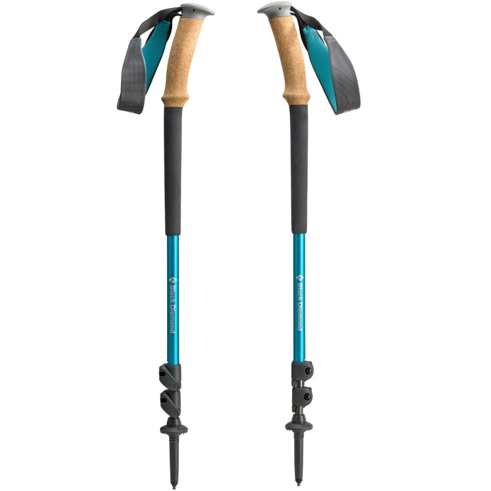 BLACK DIAMOND Women's Trail ergo Cork Trekking Poles - GREY/BLUE