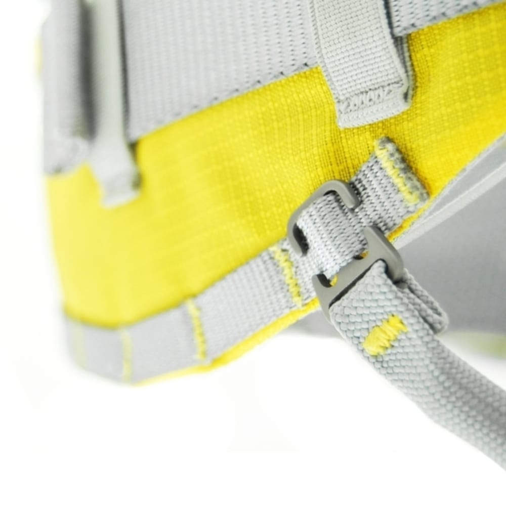 KONG Aeron Flex Adjustable Leg Loops Harnesses - YELLOW/GREY