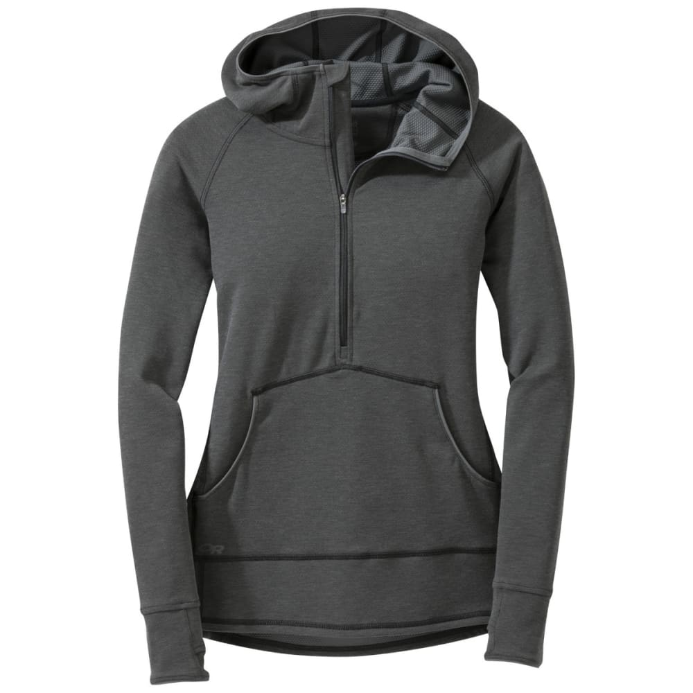 OUTDOOR RESEARCH Women's Shiftup Zip Top - BLACK/CHARCOAL