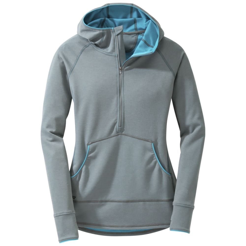 OUTDOOR RESEARCH Women's Shiftup Zip Top - PEWTER/TYPHOON
