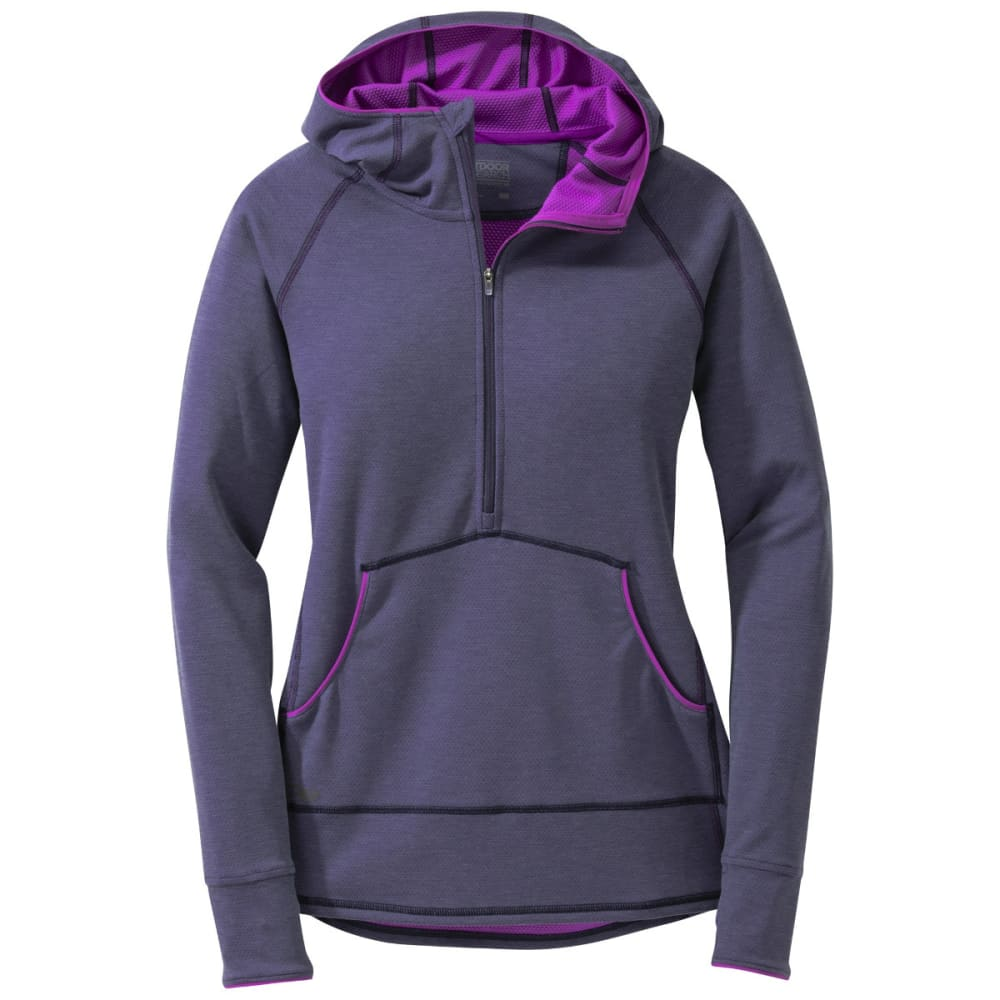 OUTDOOR RESEARCH Women's Shiftup Zip Top - NIGHT/ULTRAVIOLET