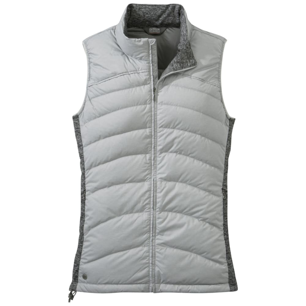 OUTDOOR RESEARCH Women's Plaza Down Vest - ALLOY/BLACK