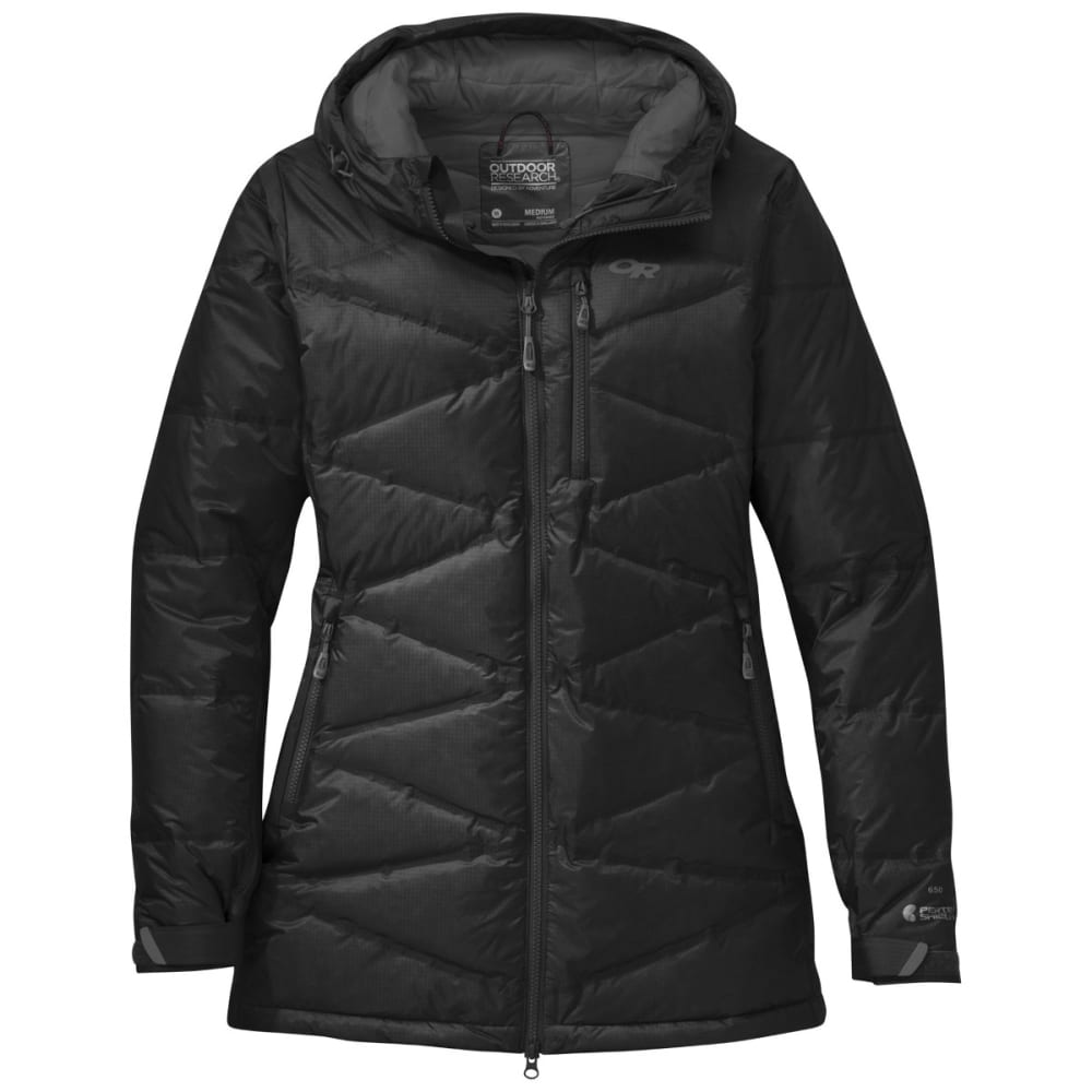 OUTDOOR RESEARCH Women's Floodlight Down Parka - BLACK/CHARCOAL
