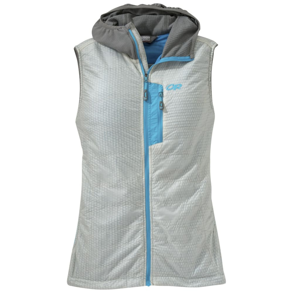 OUTDOOR RESEARCH Women's Deviator Hooded Vest - ALLOY/PEWTER