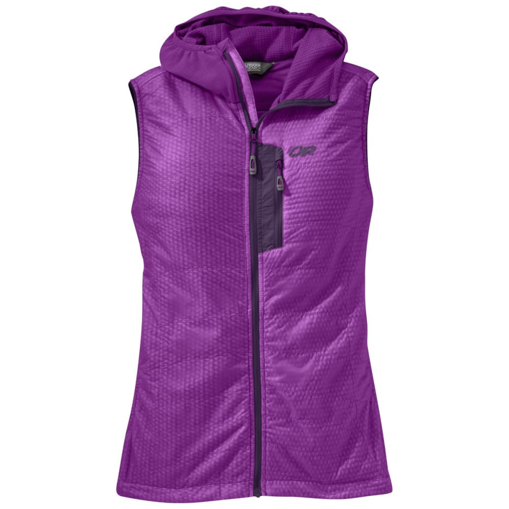 OUTDOOR RESEARCH Women's Deviator Hooded Vest - ULTRAVIOLET