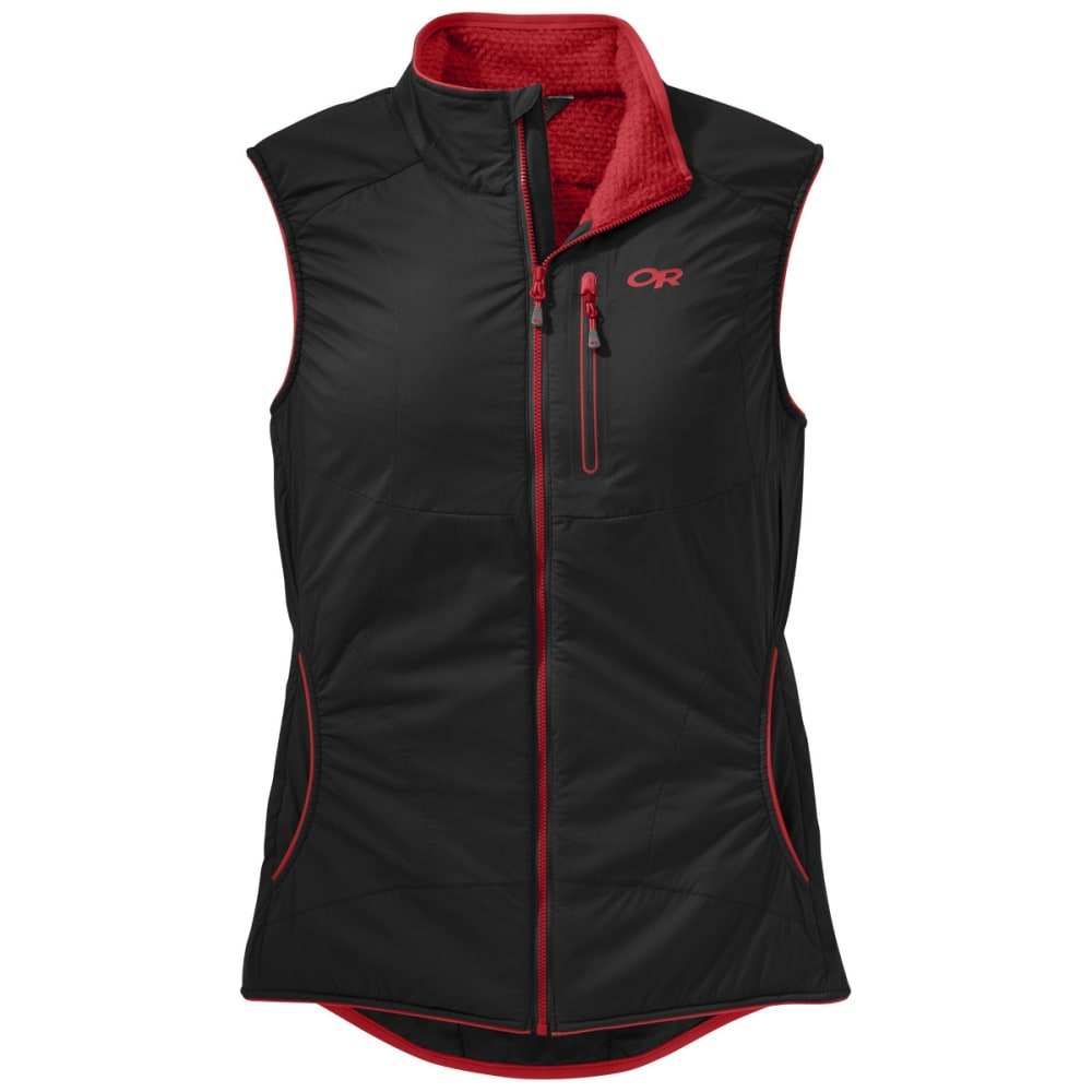 OUTDOOR RESEARCH Women's Ascendant Vest - BLACK/FLAME