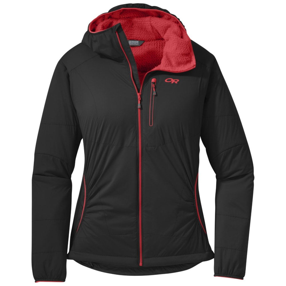 OUTDOOR RESEARCH Women's Ascendant Hoody - BLACK/FLAME