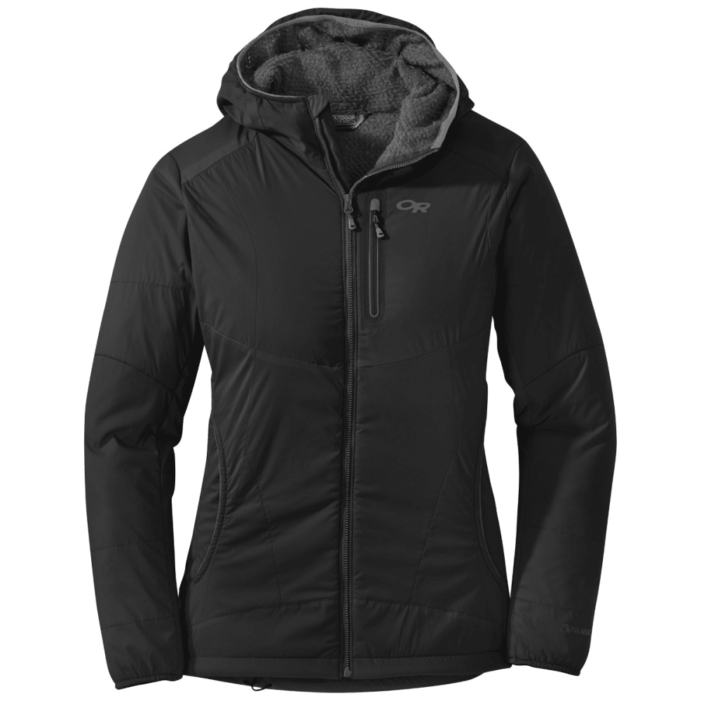 OUTDOOR RESEARCH Women's Ascendant Hoody - BLACK/CHARCOAL