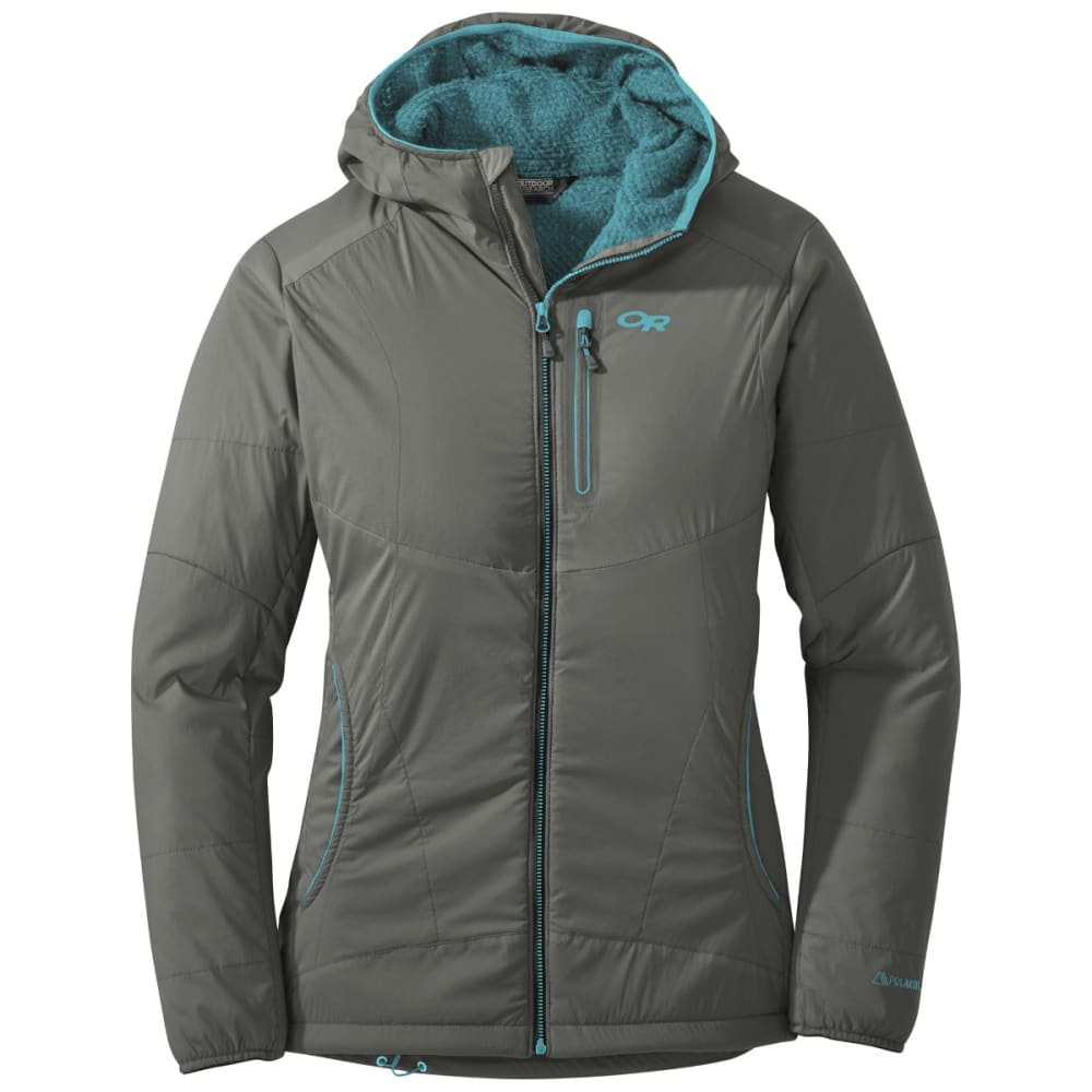 OUTDOOR RESEARCH Women's Ascendant Hoody - PEWTER/TYPHOON