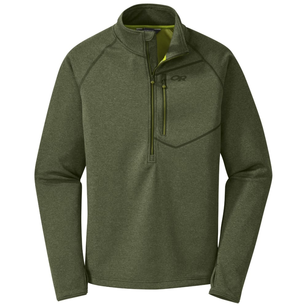 OUTDOOR RESEARCH Men's Starfire Zip Top - KALE