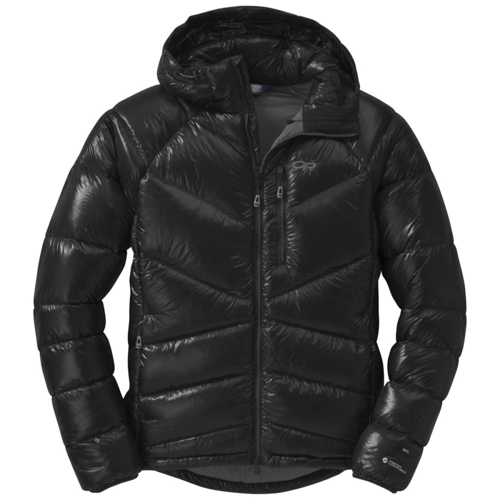 OUTDOOR RESEARCH Men's Incandescent Hooded Down Jacket - BLACK