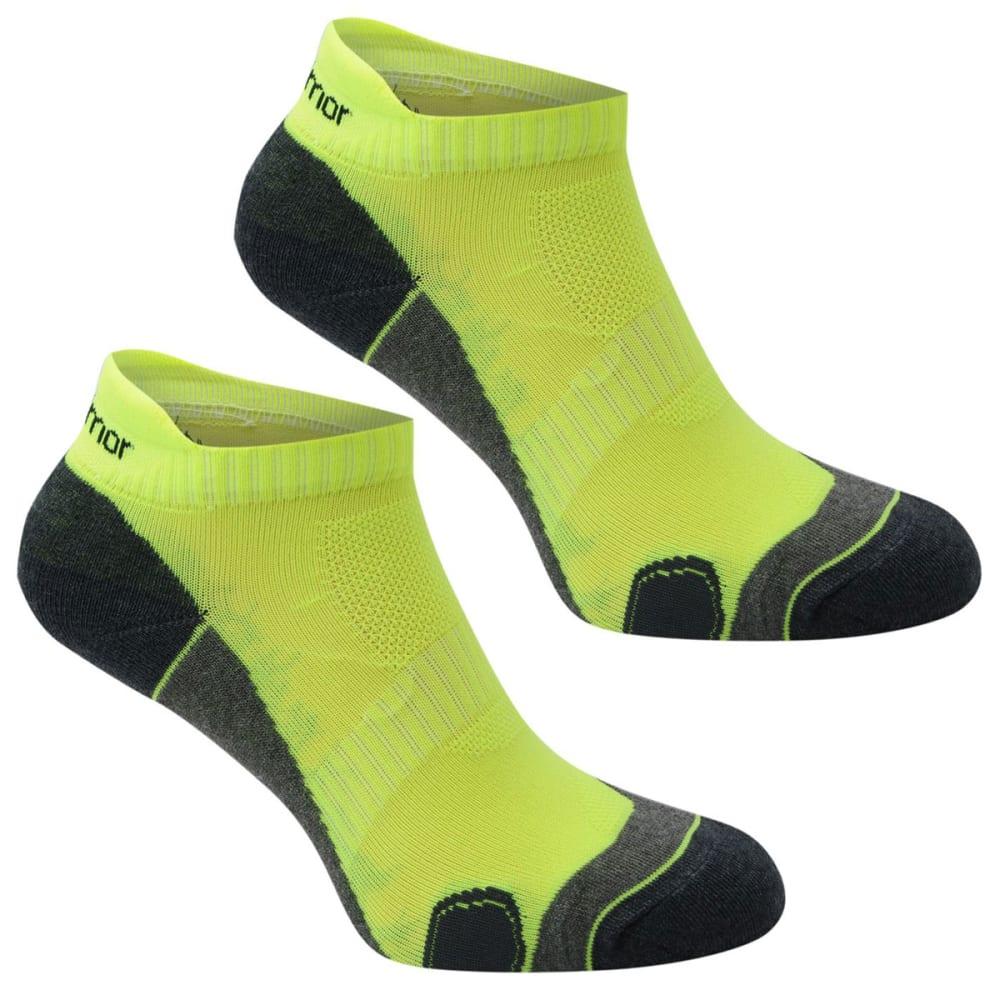 KARRIMOR Men's Running Socks, 2 Pack - FLORESSENT YELLOW
