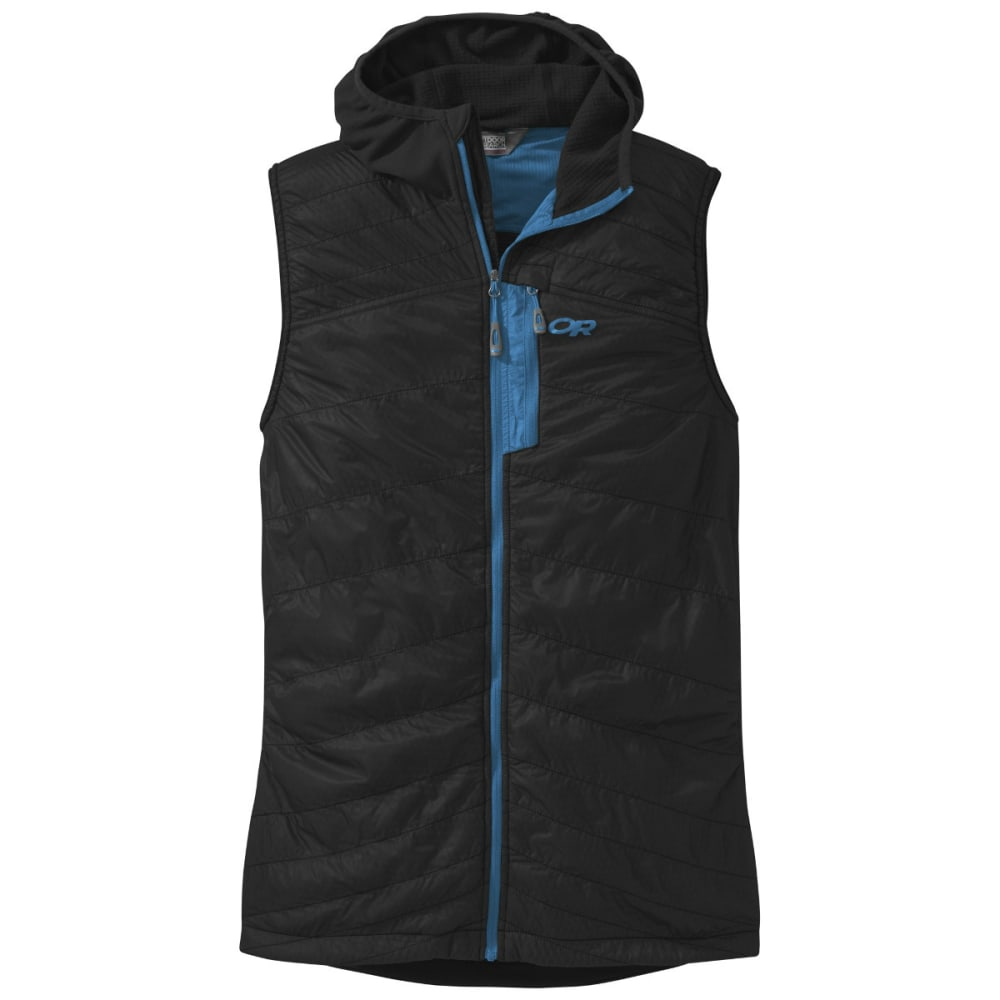 OUTDOOR RESEARCH Men's Deviator Hooded Vest - BLACK/TAHOE