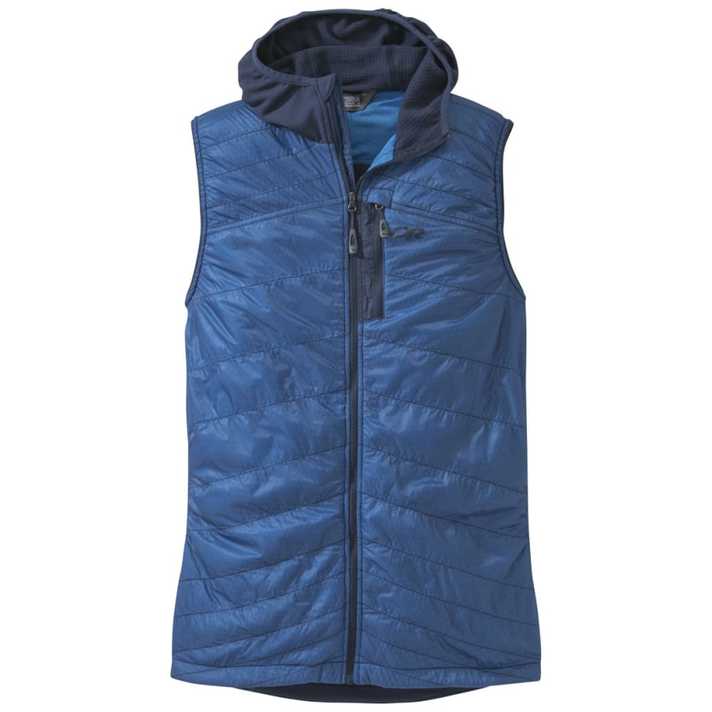 OUTDOOR RESEARCH Men's Deviator Hooded Vest - NIGHT/HYDRO