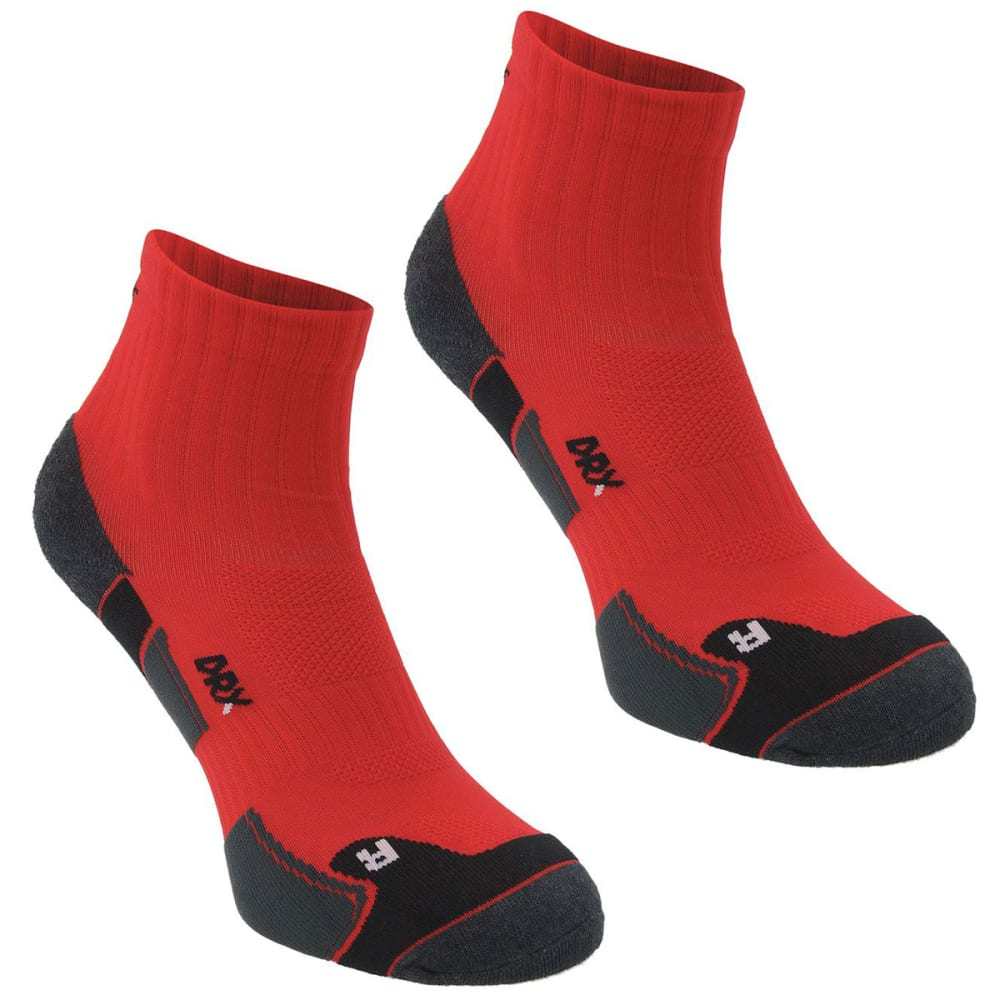 KARRIMOR Men's Dri Skin Running Socks, 2 Pack - RED/BLK