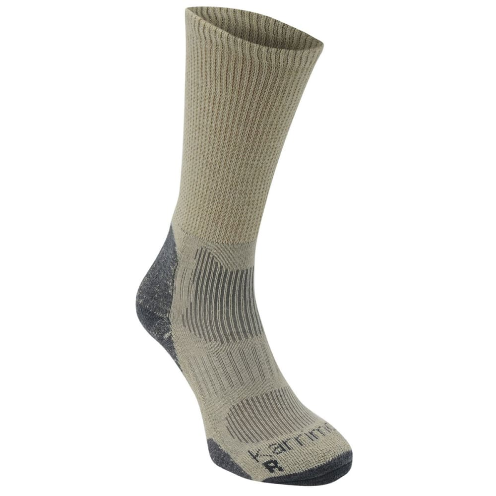 KARRIMOR Men's Merino Fiber Lightweight Hiking Socks - BEIGE/CHR