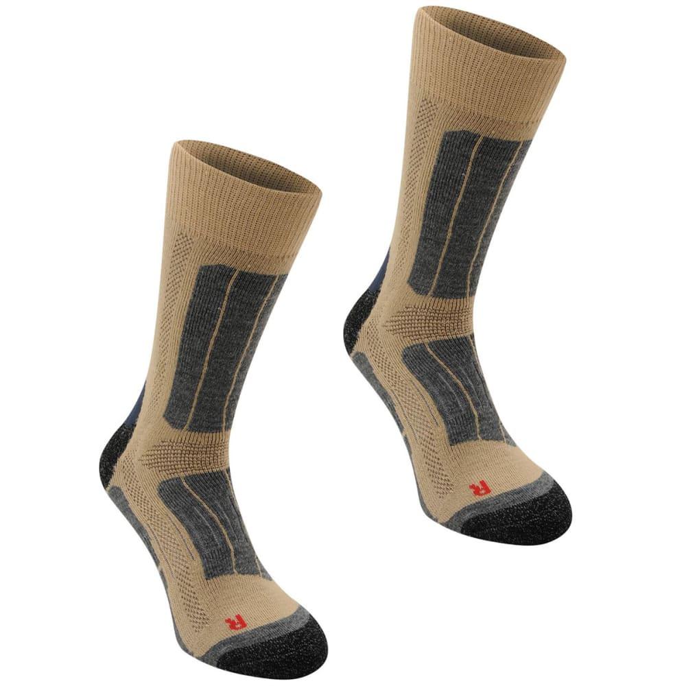 KARRIMOR Men's Trekking Socks, 2 Pack - BEIGE/BLUE