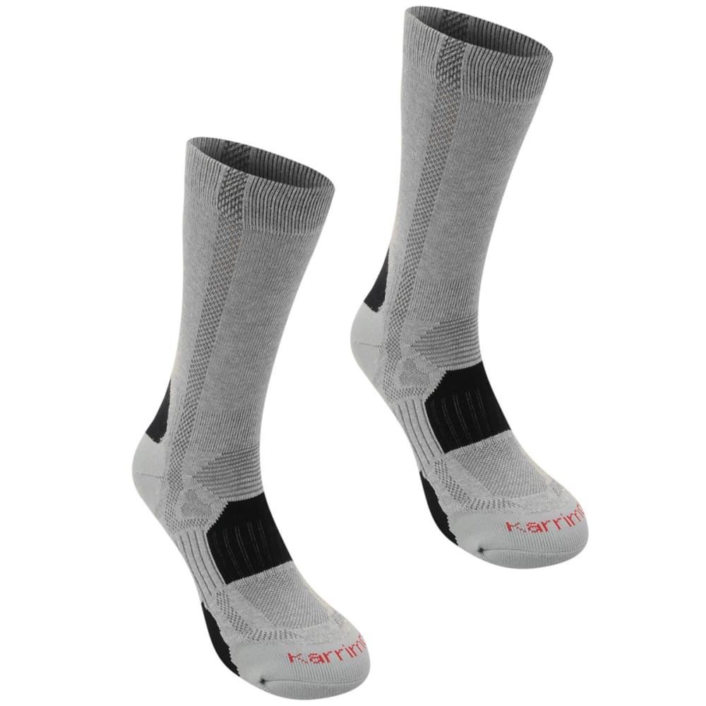 KARRIMOR Men's Hiking Sock, 2 Pack - GREY