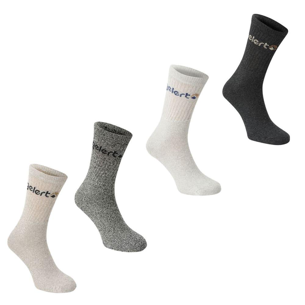 GELERT Kids' Hiking Boot Socks, 4 Pack - GREY