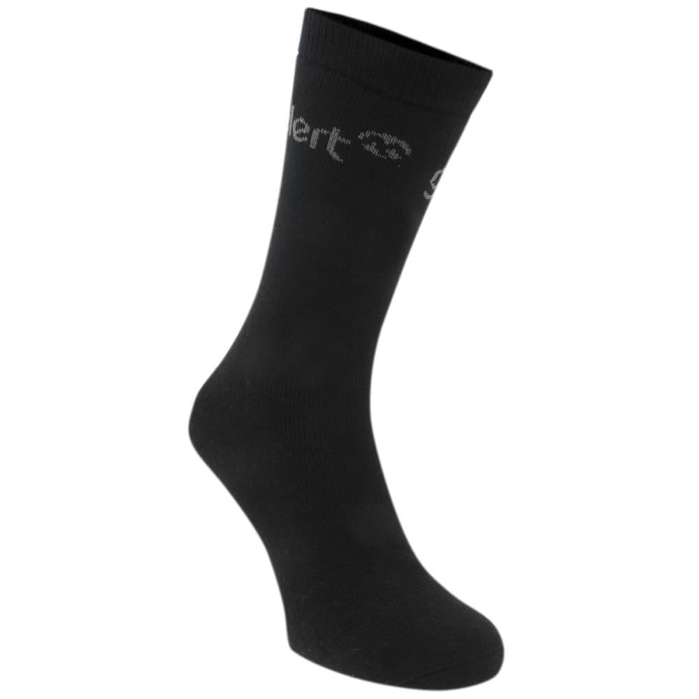 GELERT Kids' Thermal Socks, 3 Pack - BLACK