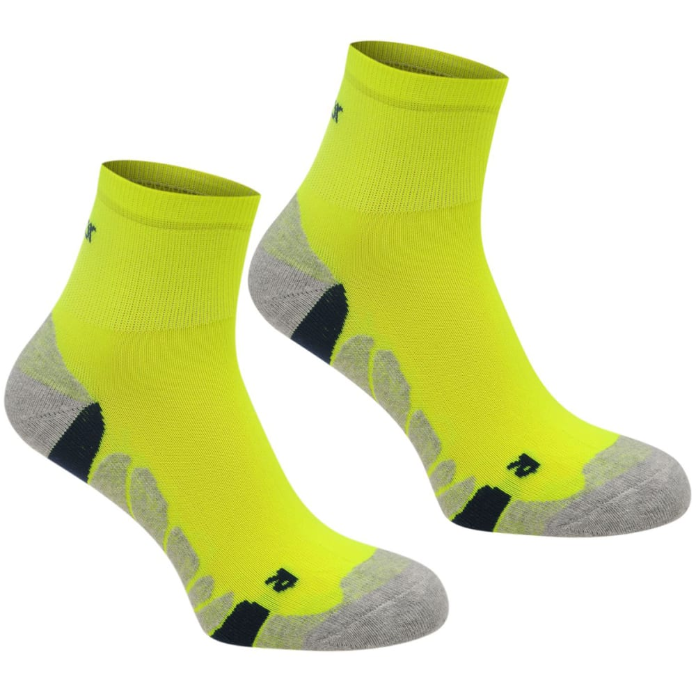 KARRIMOR Kids' Dri Socks, 2 Pack - FLORESSENT YELLOW