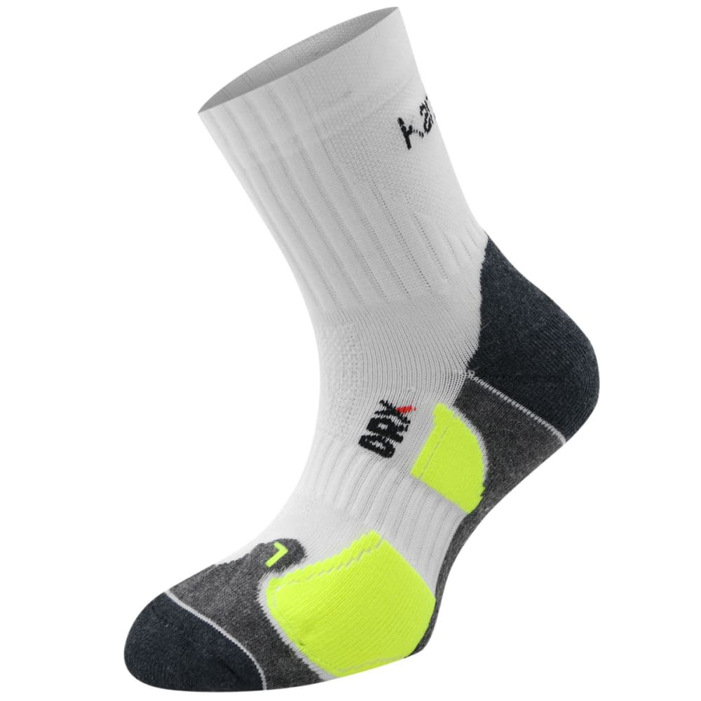 KARRIMOR Kids' Dri Socks, 2 Pack - WHT/FLUO