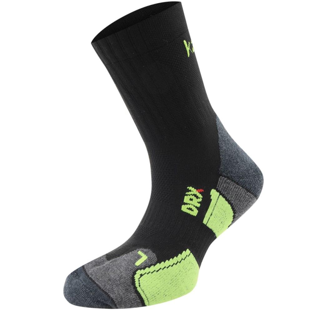 KARRIMOR Kids' Dri Socks, 2 Pack - BLK/FLUO