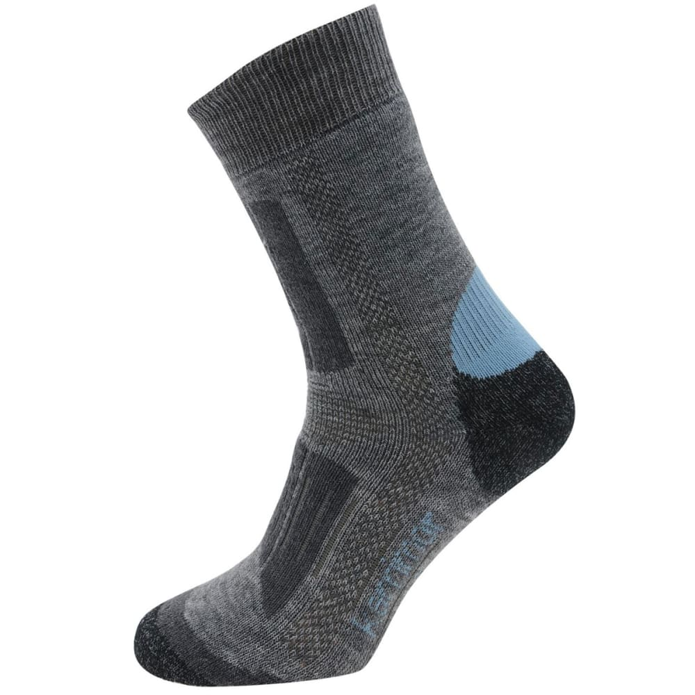 KARRIMOR Kids' Trekking Socks, 2 Pack - GREY/SKY