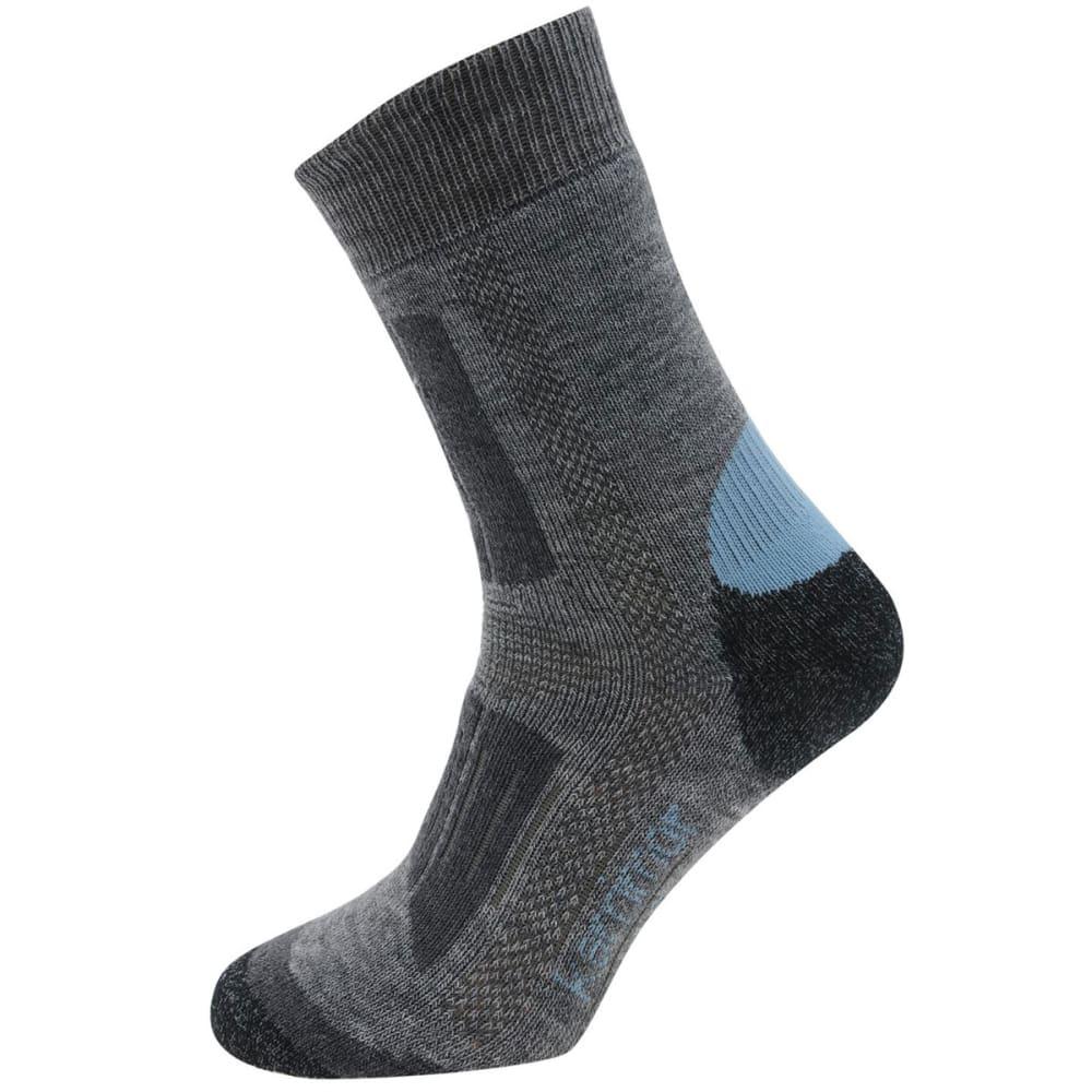 KARRIMOR Kids' Trekking Socks, 2 Pack - GREY/SKY