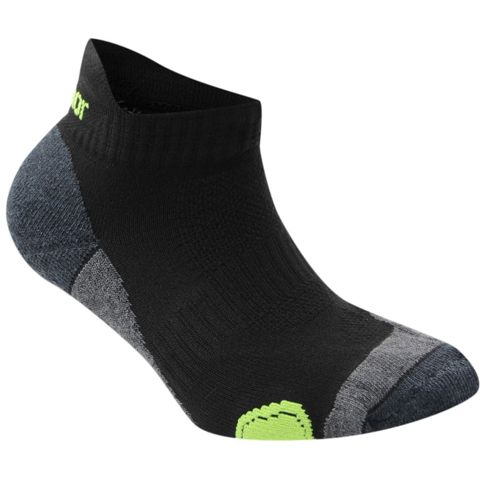 KARRIMOR Kids' Running Socks, 2 Pack - BLK/FLUO