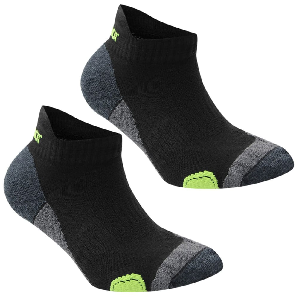 KARRIMOR Kids' Running Socks, 2 Pack - BLK/FLUO