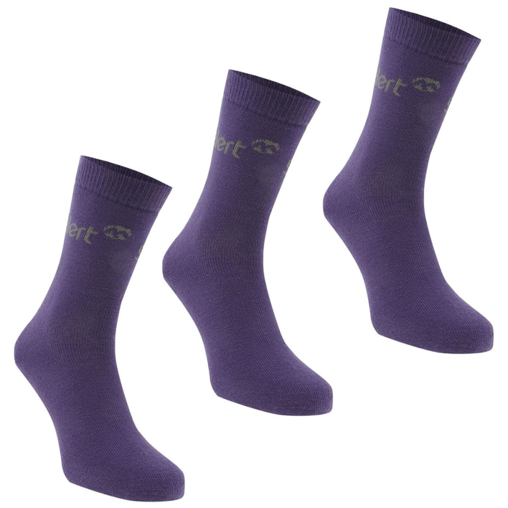 GELERT Women's Thermal Socks, 3 Pack - PURPLE