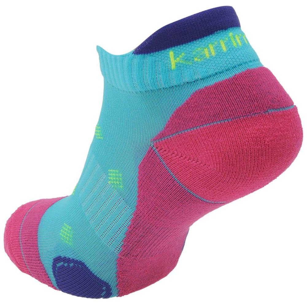 KARRIMOR Women's Running Socks, 2 Pack - TURQ/FUSCH