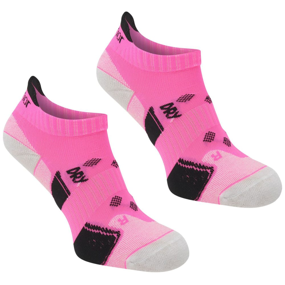 KARRIMOR Women's Running Socks, 2 Pack - BRIGHT PINK