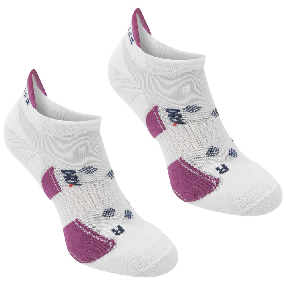 KARRIMOR Women's Running Socks, 2 Pack - WHT/BERRY
