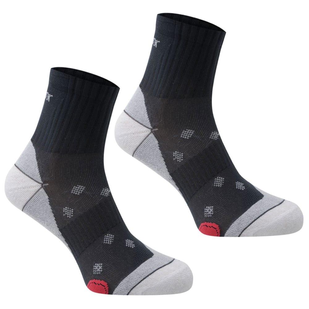 KARRIMOR Women's Quarter Running Socks, 2 pack - MID GRY